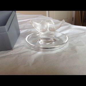 Lalique dove jewelry holder
